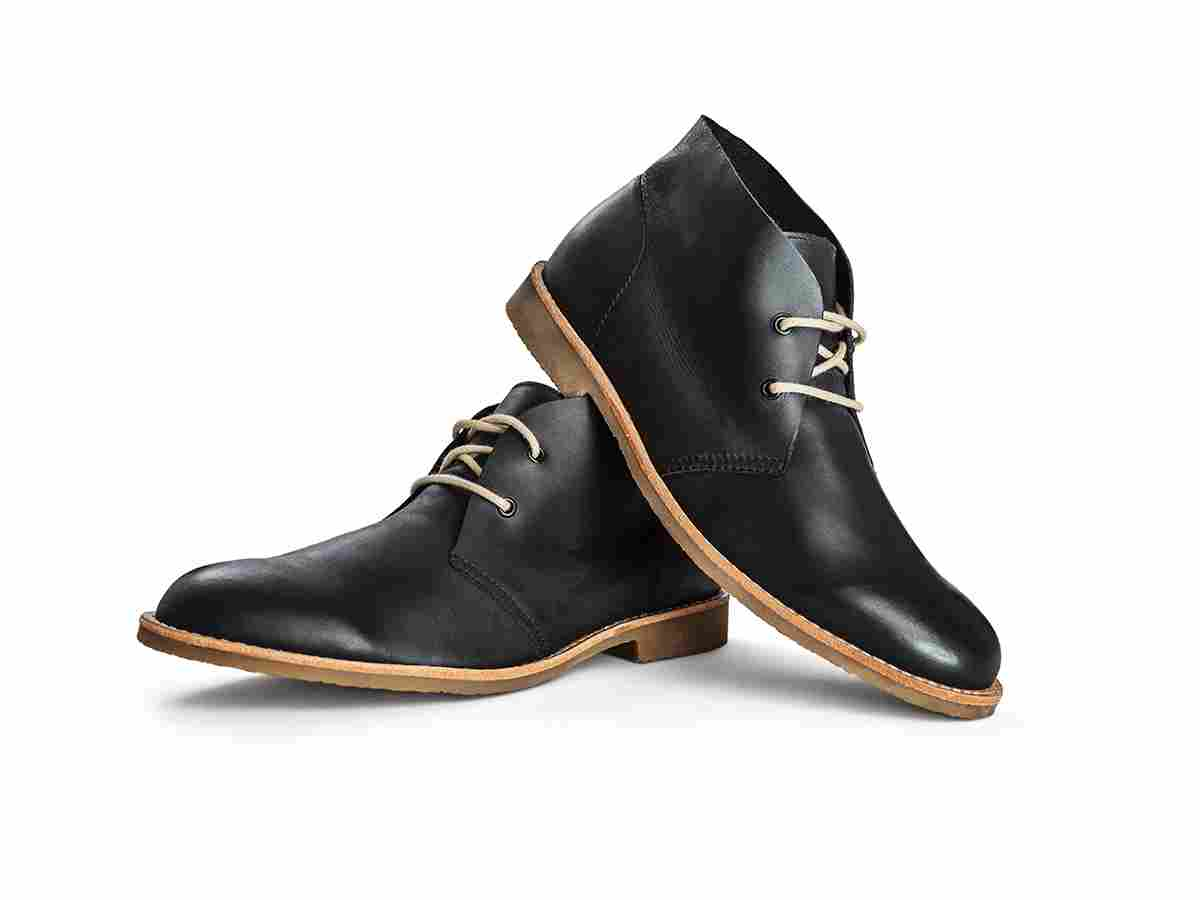 Limited edition black leather boots