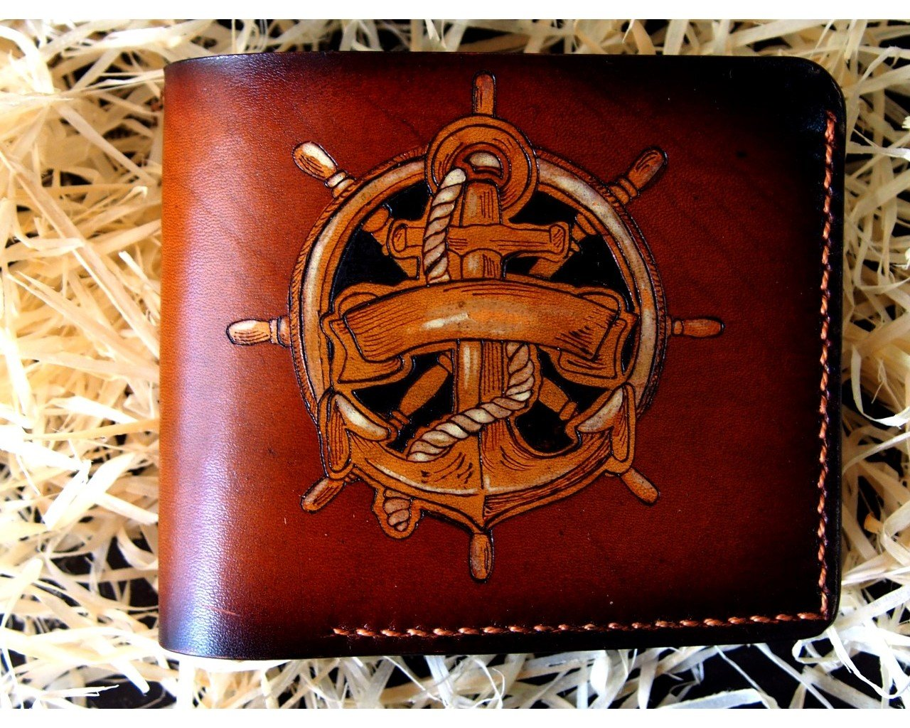 Leather wallet Anchor