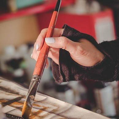 художественная роспись кожаных изделий