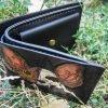 кожаный кошелек череп кота фото 1