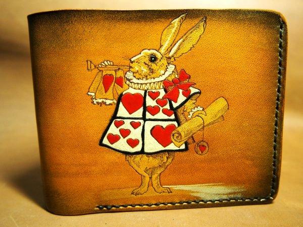 кожаный кошелек Алиса в стране чудес фото
