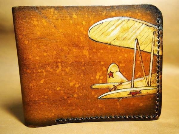 кожаный кошелек самолет фото