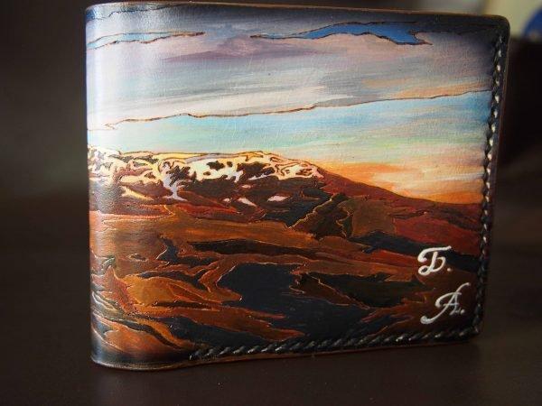кожаный кошелек пейзаж фото