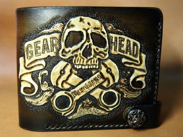 кожаный кошелек gear head фото