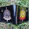 кожаный кошелек с логотипом фото 1