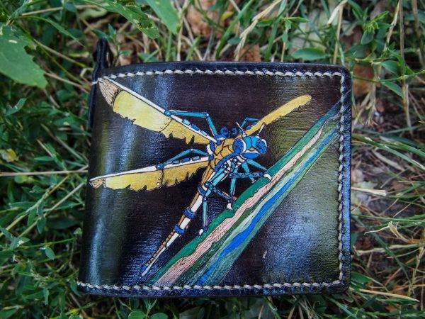 кожаный кошелек стрекоза фото 1
