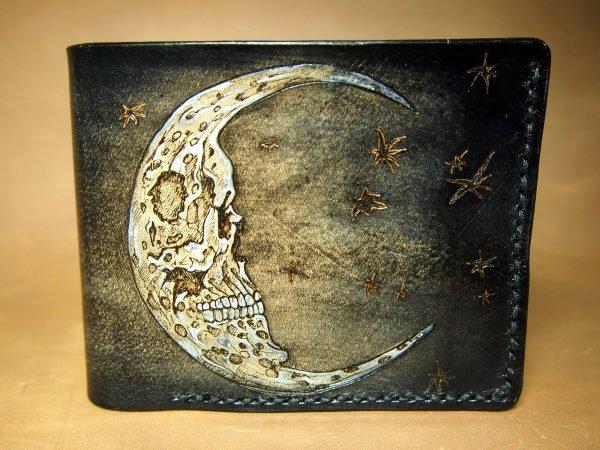кожаный кошелек месяц фото