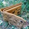 кожаный кошелек с якорем фото 1