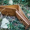 кожаный кошелек с якорем фото 5