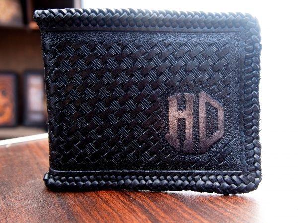 кожаный кошелек HD для мотоциклиста фото 3