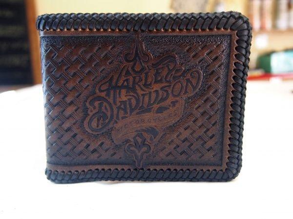 кожаный кошелек для байкера Harley Davidson фото