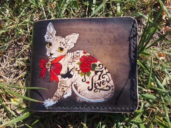 кошелек с котом в тату 3