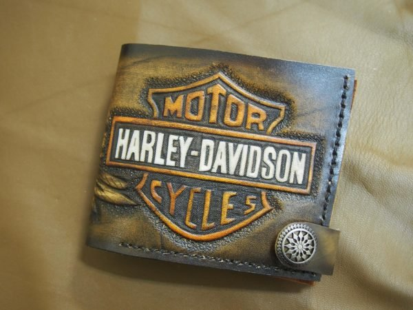 кошелек Harley Davidson тиснение фото 2