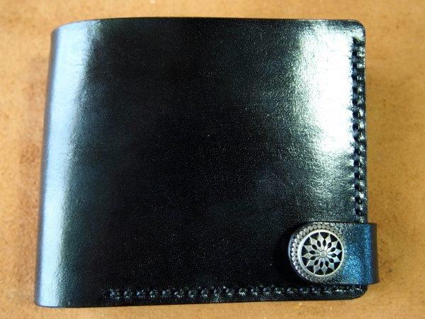кожаный черный кошелек фото 4
