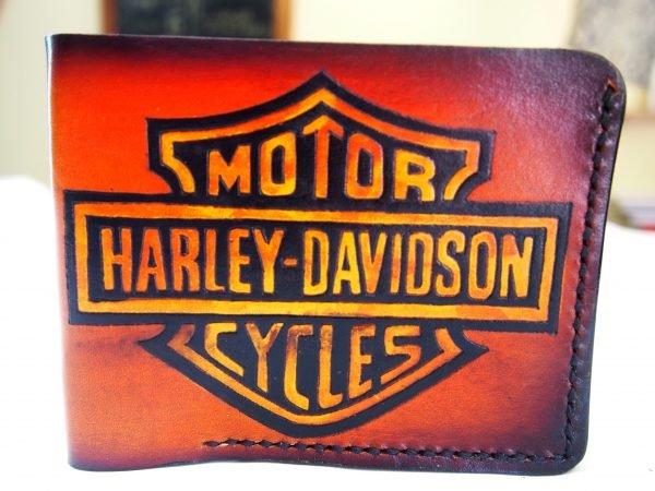 кошелек Harley Davidson рыжий 3