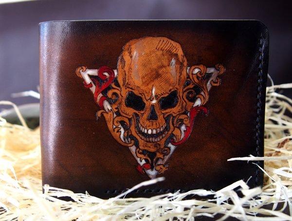 кошелек с рисунком черепа в треугольнике фото 4