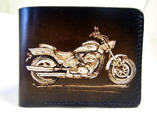 кошелек с мотоциклом фото
