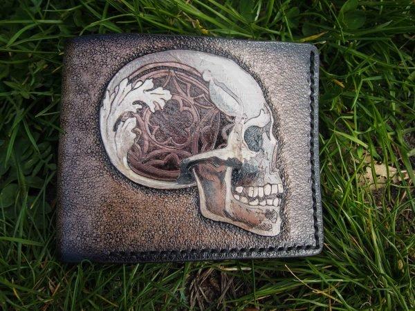 кошелек с черепом готика фото 1