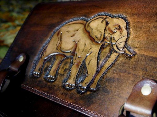 кожаная сумка слон фото 5