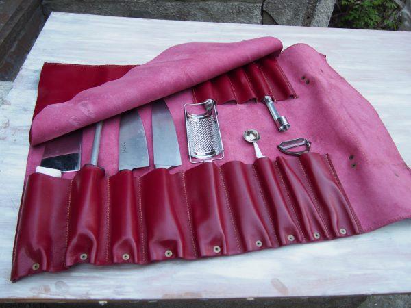 кожаная скрутка для ножей фото 9