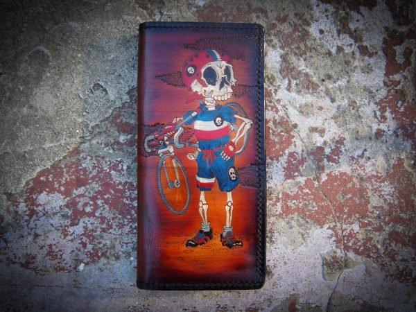 кожаный кошелек велогонщик фото 1
