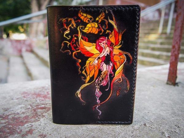 Кожаная обложка на паспорт Эльфы фото