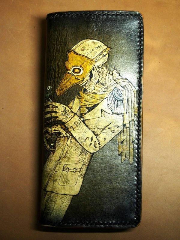 кожаный кошелек Доктор фото 2