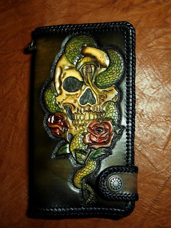 кошелек череп со змеей фото 2