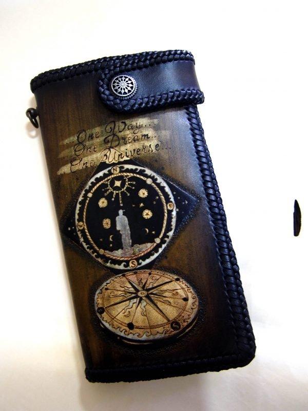 кошелек с компасом фото