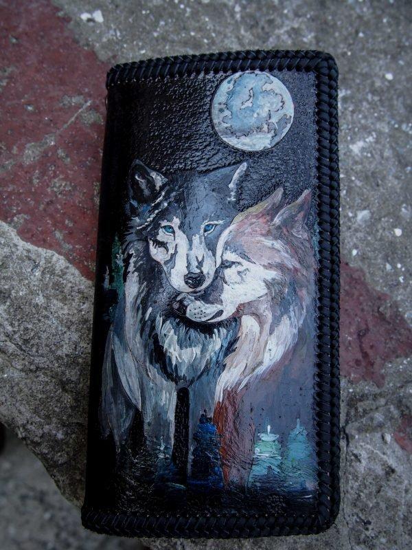 кошелек пара волков фото
