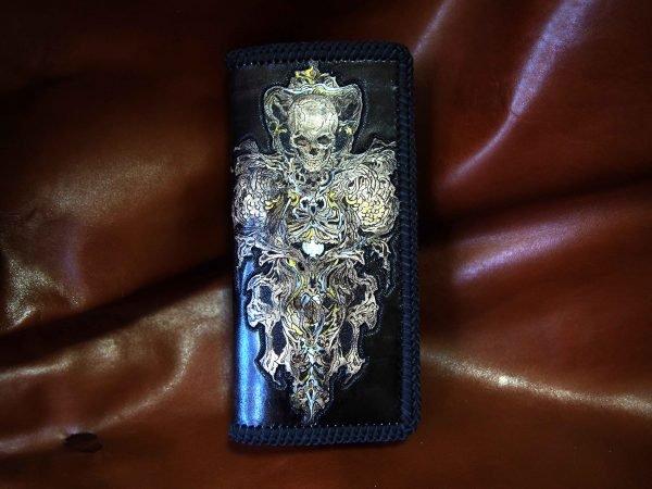 кожаный кошелек скелет фото 1