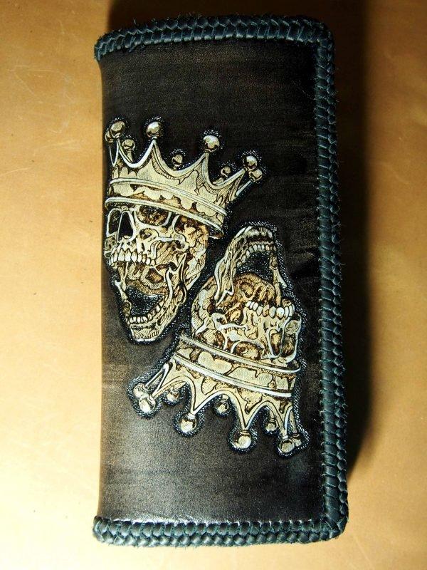 кошелек черепа два короля фото