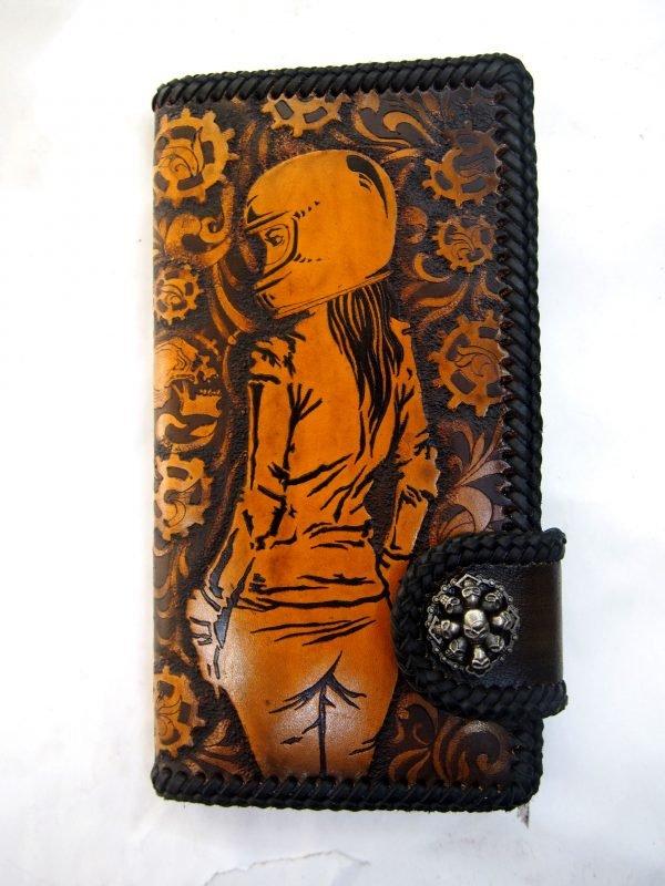 кожаный кошелек мото леди фото