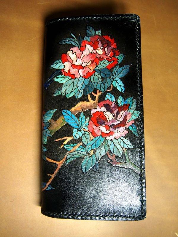 кошелек с пионами фото 1
