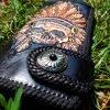 кожаный кошелек с индейцем фото 1