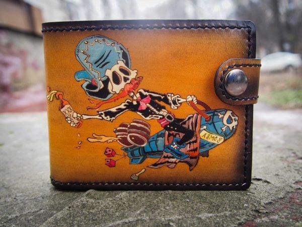 кошелек с черепом мексиканец 4 фото