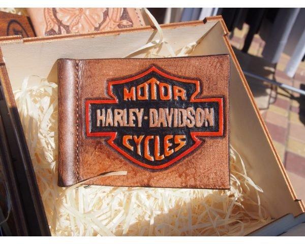 Кожаный зажим Харлей Девидсон фото