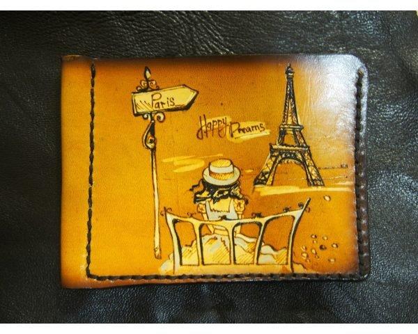 Кожаный зажим Париж