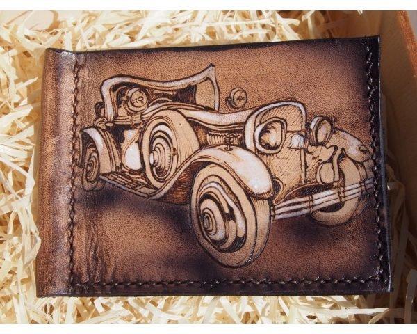 Кожаный зажим Ретро авто фото