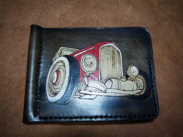 Кожаный зажим Ретро автомобиль 1