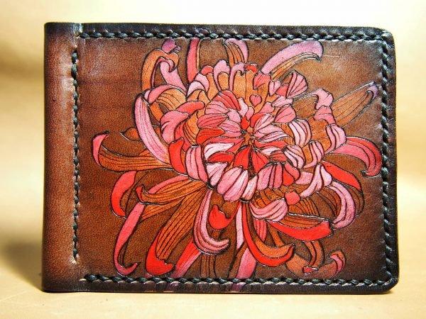 Кожаный зажим Цветок