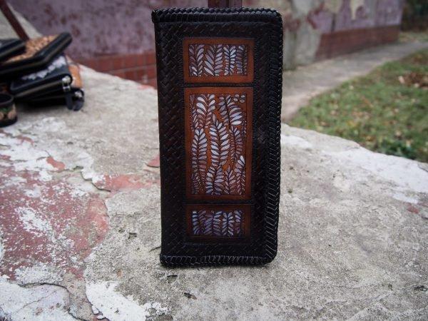 кошелек черно-белый 1