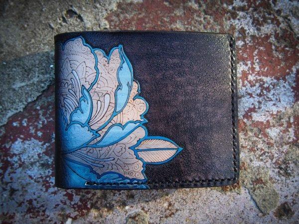 кошелек с пионом фото 2