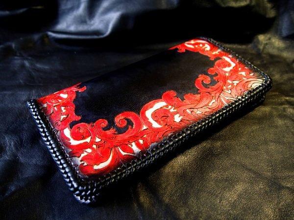 красно-черный женский кошелек 3
