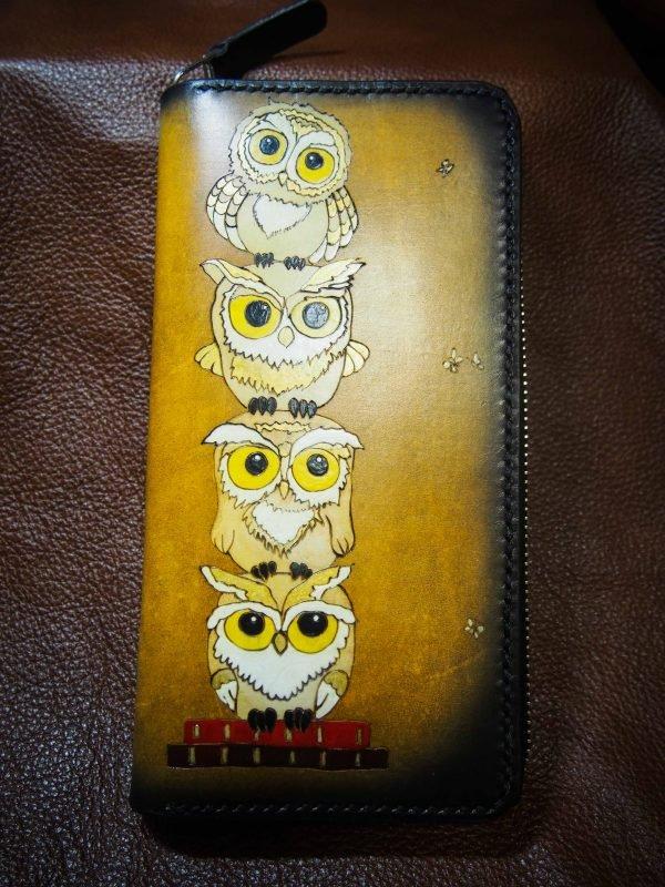 кошелек на молнии совы фото 5