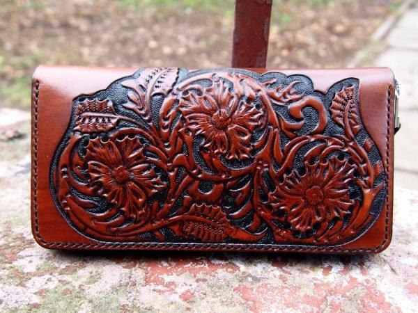 кошелек на змейке с тиснением фото 6