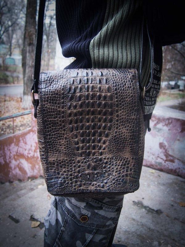 мужская сумка под крокодила фото 4