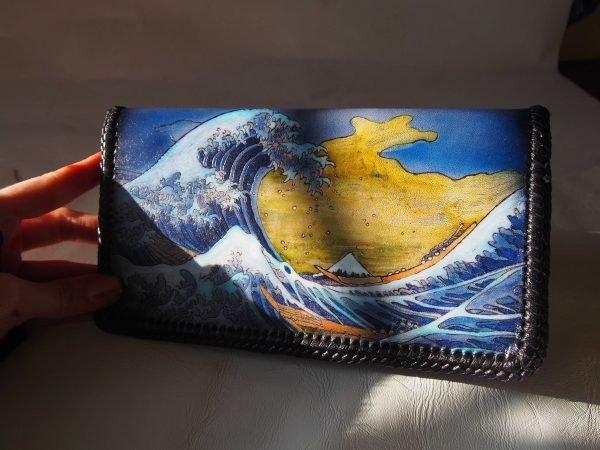 кошелек Большая волна в Канагава Кацусика Хокусай 5