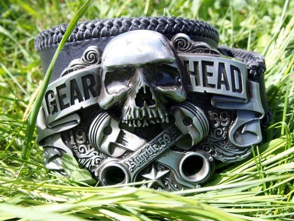 Кожаный ремень Gear Head фото