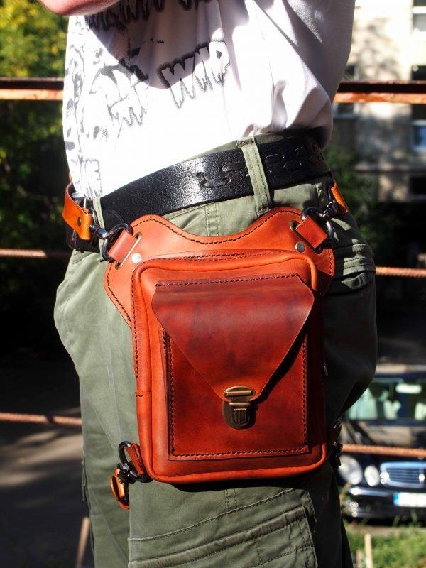 поясная кожаная сумка фото 6